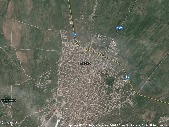 Сателитна карта на Банско