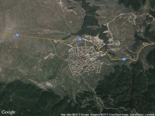 Сателитна карта на Добринище