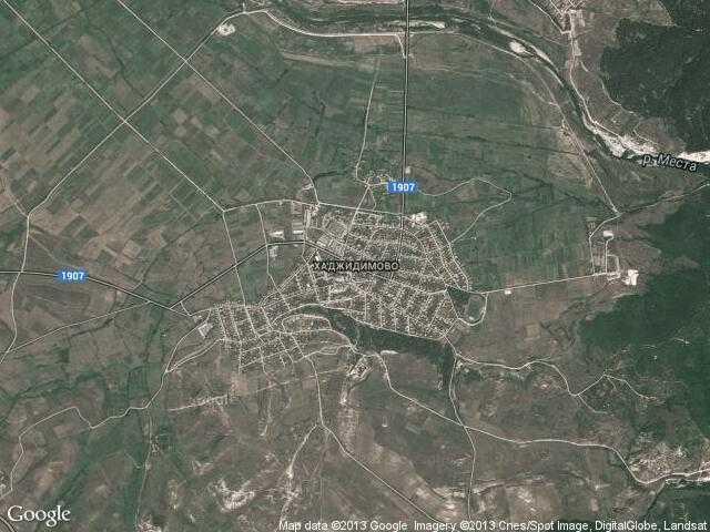 Сателитна карта на Хаджидимово