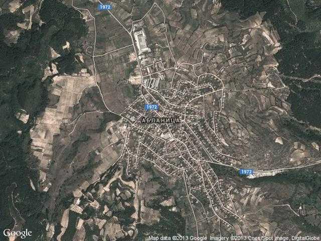 Сателитна карта на Абланица
