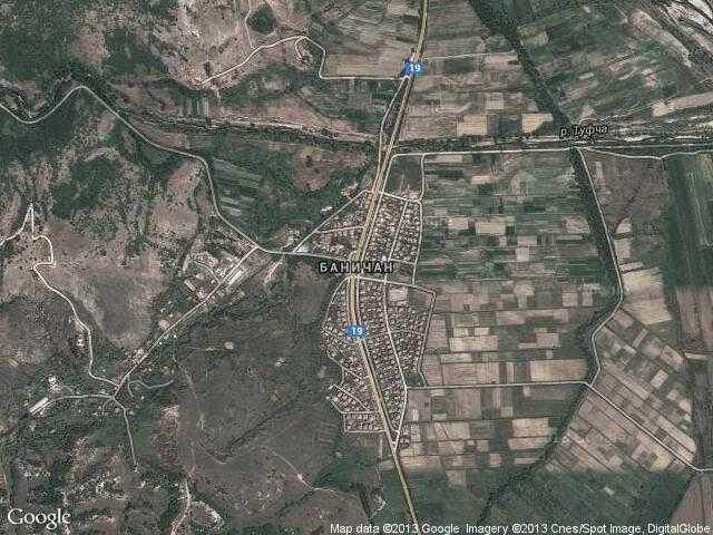 Сателитна карта на Баничан
