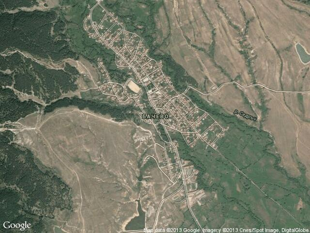 Сателитна карта на Бачево