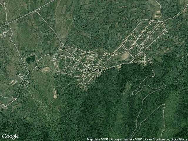 Сателитна карта на Беласица