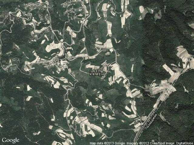 Сателитна карта на Бел камен