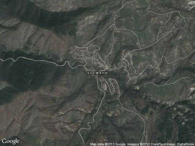 Сателитна карта на Брежани