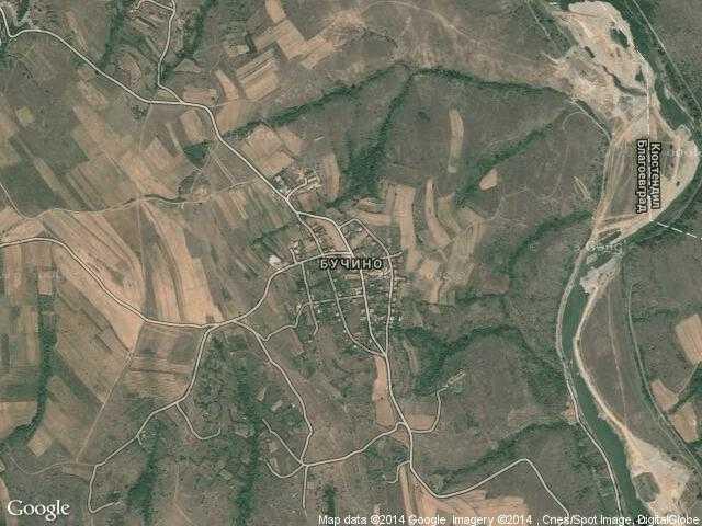 Сателитна карта на Бучино