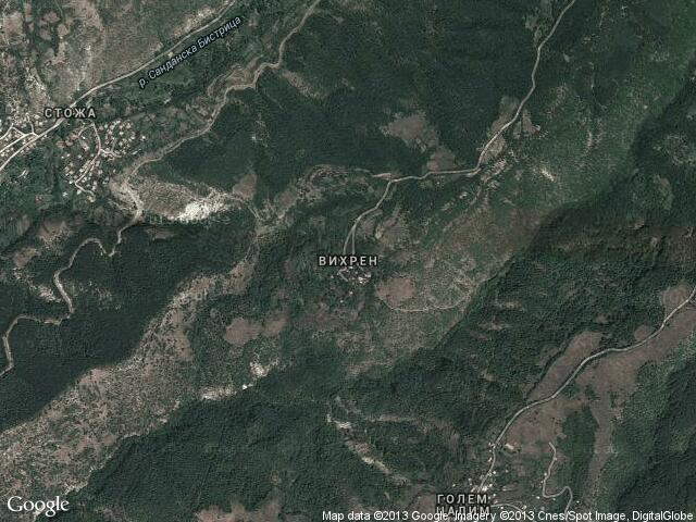 Сателитна карта на Вихрен