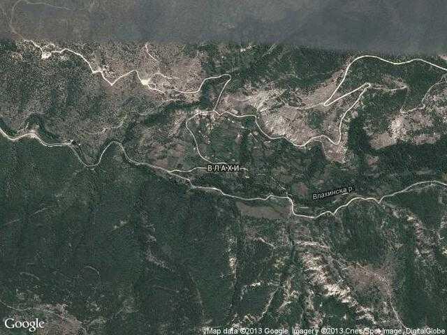 Сателитна карта на Влахи