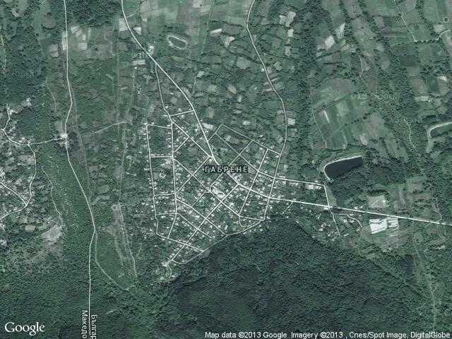Сателитна карта на Габрене