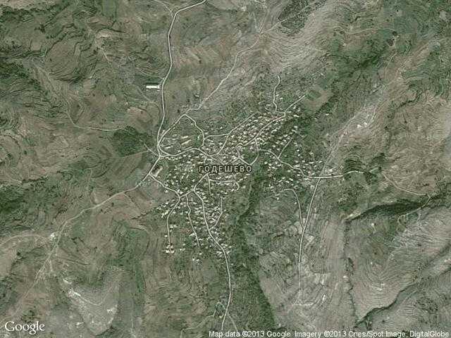 Сателитна карта на Годешево
