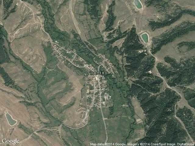Сателитна карта на Годлево