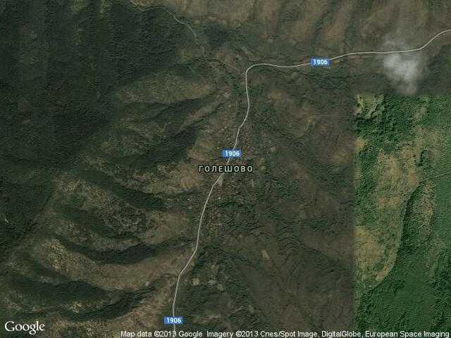 Сателитна карта на Голешово