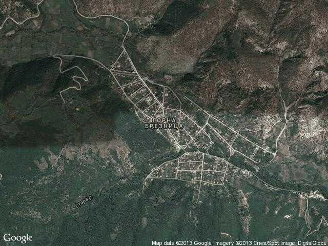 Сателитна карта на Горна Брезница