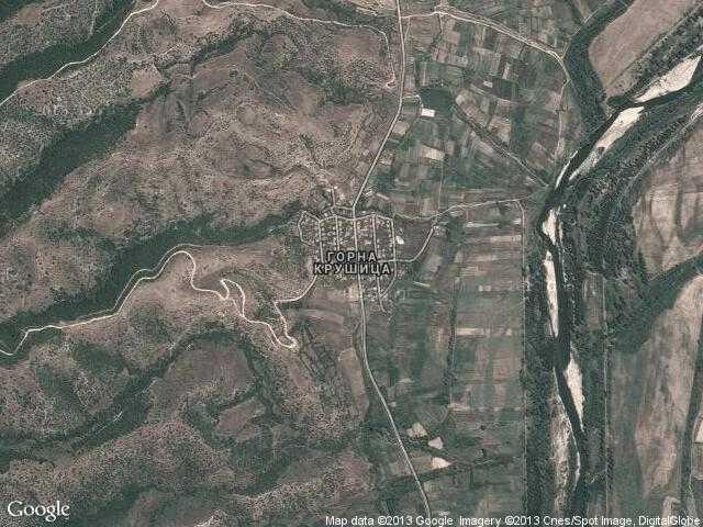 Сателитна карта на Горна Крушица