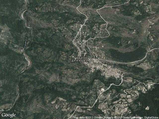 Сателитна карта на Горно Дряново