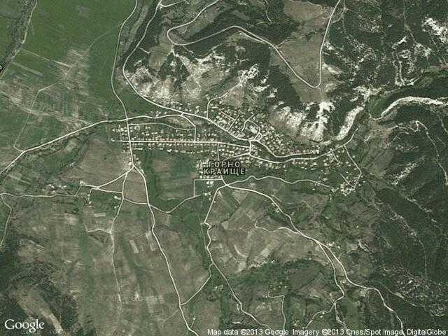 Сателитна карта на Горно Краище