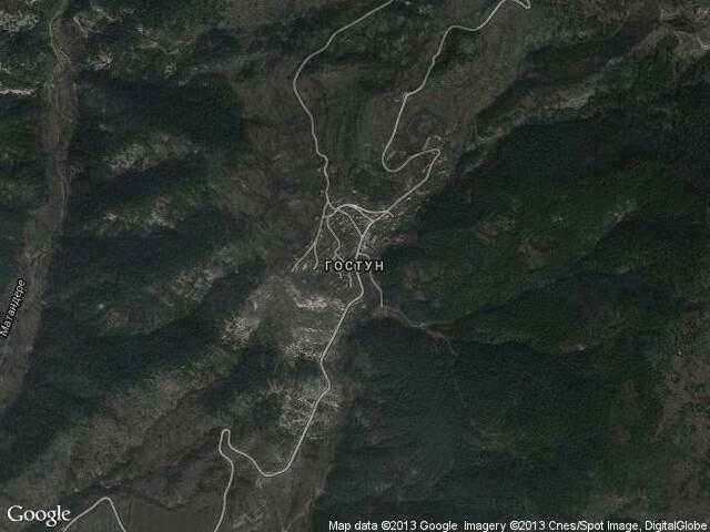 Сателитна карта на Гостун