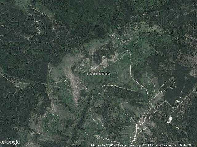 Сателитна карта на Гълъбово