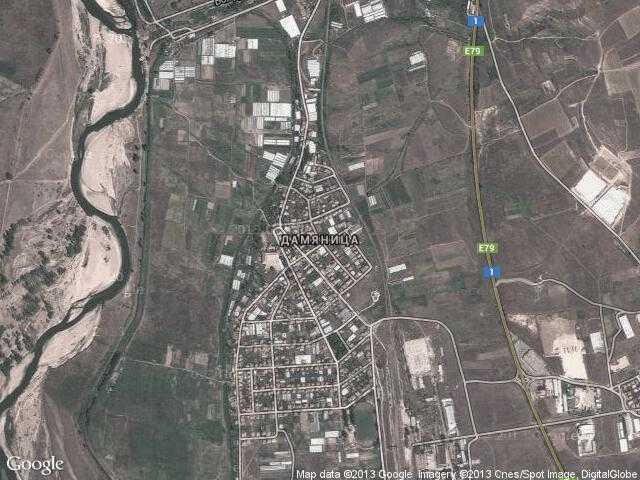 Сателитна карта на Дамяница