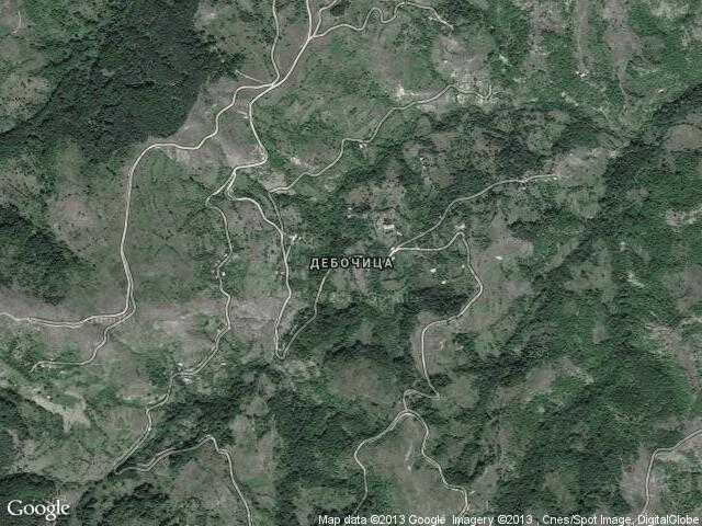 Сателитна карта на Дебочица