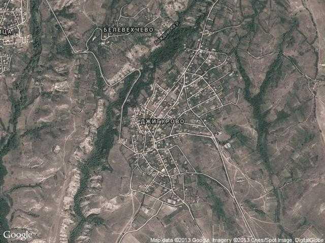 Сателитна карта на Джигурово