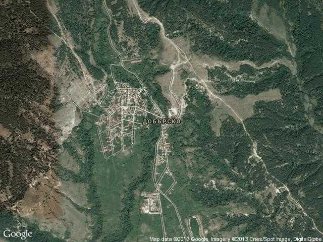 Сателитна карта на Добърско
