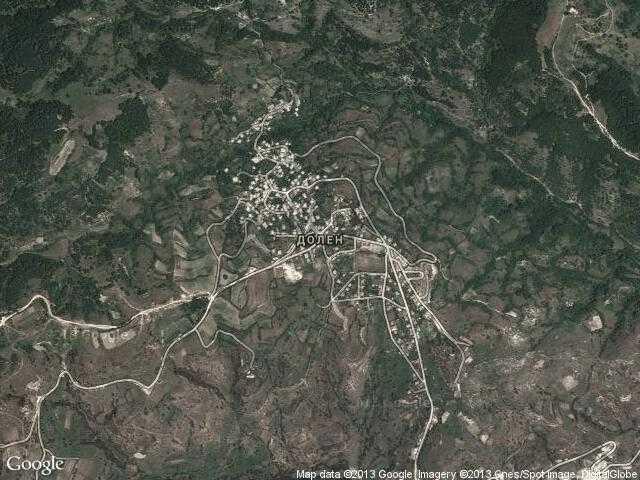 Сателитна карта на Долен