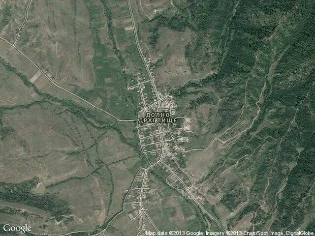Сателитна карта на Долно Драглище