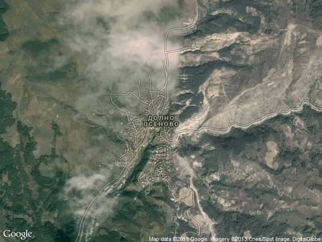 Сателитна карта на Долно Осеново