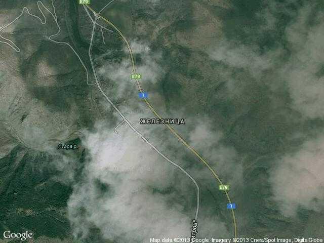 Сателитна карта на Железница