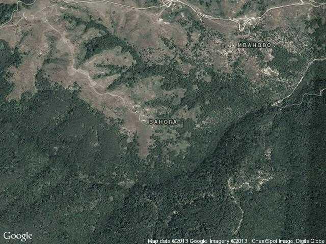 Сателитна карта на Занога