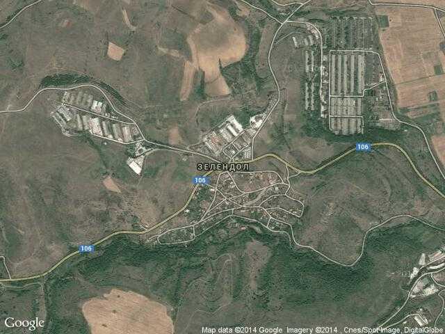 Сателитна карта на Зелендол