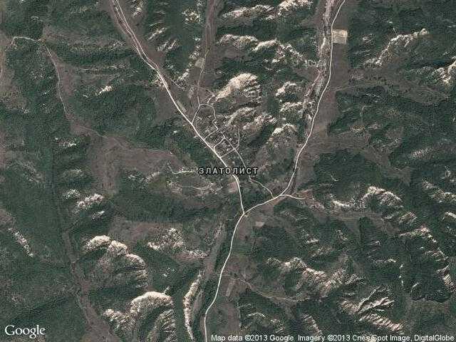Сателитна карта на Златолист