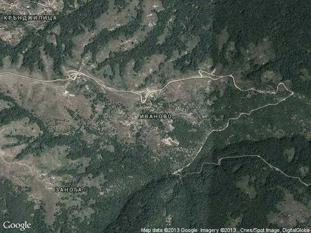 Сателитна карта на Иваново