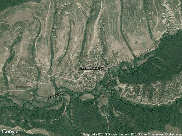 Сателитна карта на Калиманци