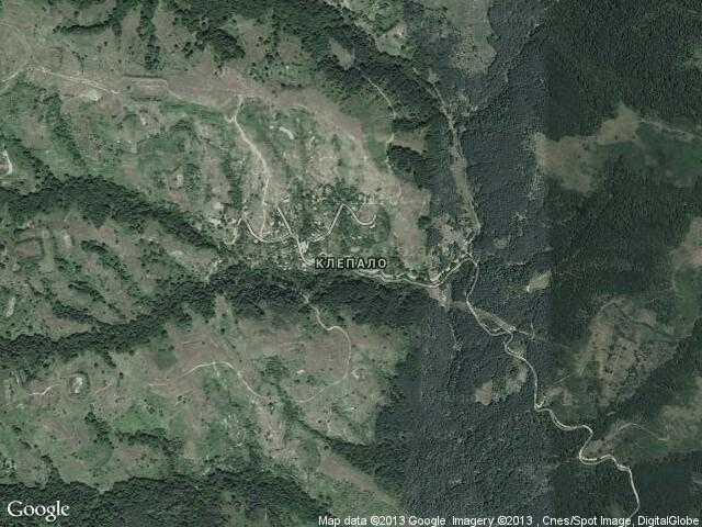 Сателитна карта на Клепало