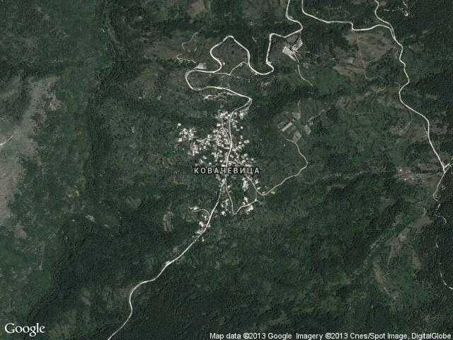 Сателитна карта на Ковачевица