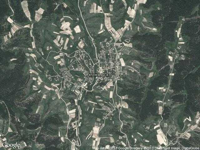 Сателитна карта на Конарско