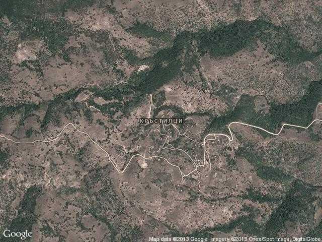 Сателитна карта на Кръстилци
