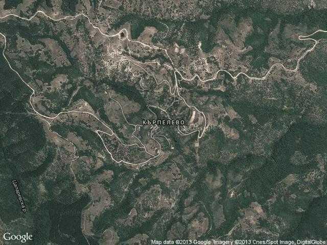 Сателитна карта на Кърпелево