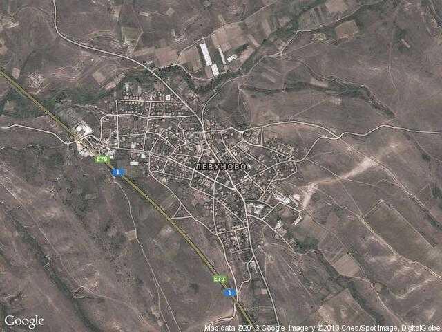 Сателитна карта на Левуново