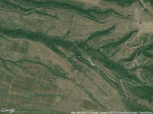 Сателитна карта на Лехово