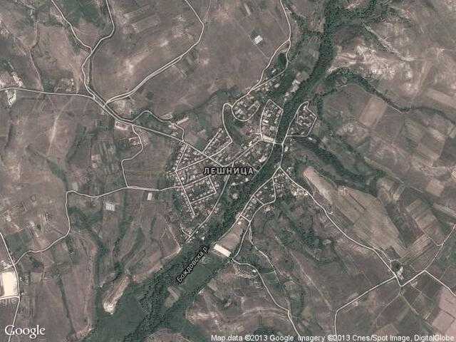 Сателитна карта на Лешница
