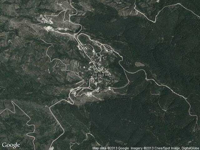 Сателитна карта на Лещен
