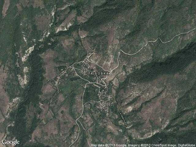 Сателитна карта на Любовка