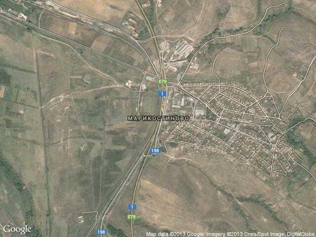 Сателитна карта на Марикостиново