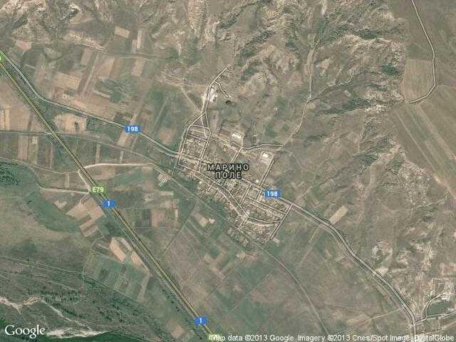 Сателитна карта на Марино поле
