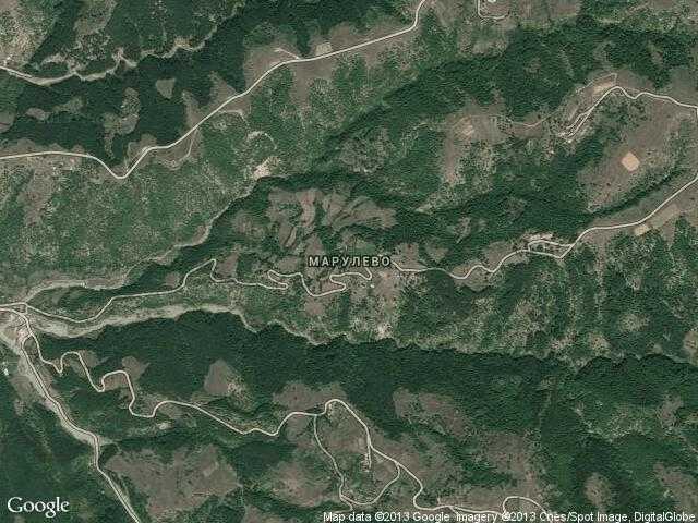 Сателитна карта на Марулево