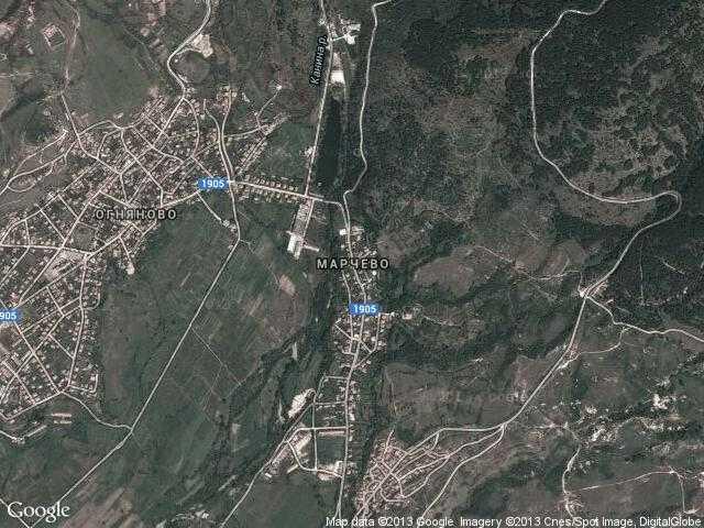 Сателитна карта на Марчево