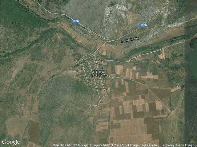 Сателитна карта на Нова Ловча